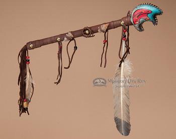 Navajo Rawhide Bear Rattle