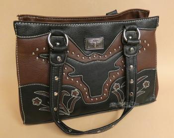 Western Longhorn Faux Leather Purse