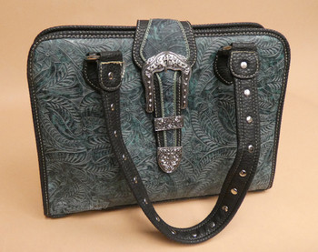 Western Floral Faux Leather Purse