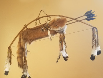 Native American Deer Skin Bow & Fox Quiver