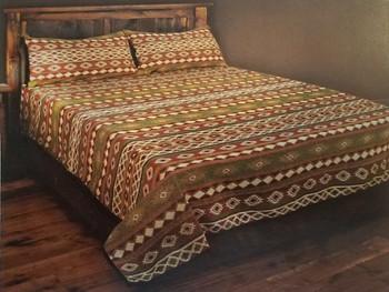 Southwestern Woven Bed Spread -Adobe