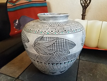 Navajo Native American Pottery Vase