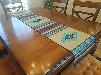 Woven Tapestry Table Runner 13x72 -Saltillo