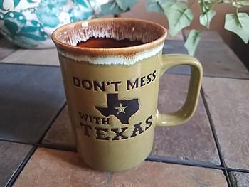 Don't Mess With Texas Drip Edge Mug 16oz. -Green