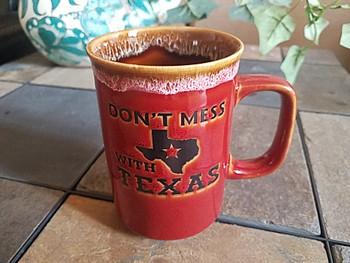Don't Mess With Texas Drip Edge Mug 16oz. -Red