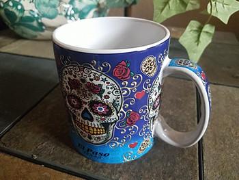 Day of The Dead Mug 18oz. -Sugar Skull