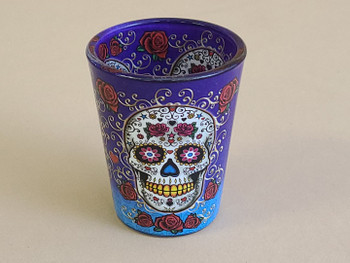 El Paso Day of The Dead Shot Glass -Sugar Skull