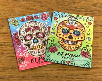 El Paso Souvenir Sugar Skull Magnet
