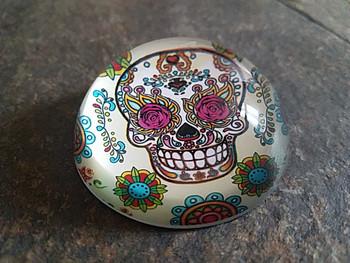 """El Paso Souvenir Sugar Skull Paperweight 2"""""""