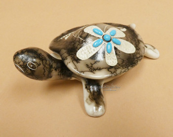Horse Hair Pottery Turtle Jewelry Box