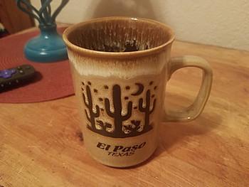 Cactus Drip Edge El Paso, TX Mug 16oz. -Desert Tan