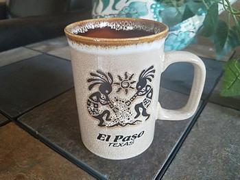 Kokopelli Drip Edge El Paso, TX Mug 16oz. -Tan