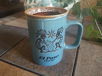 Kokopelli Drip Edge El Paso, TX Mug 16oz. -Turquoise Blue