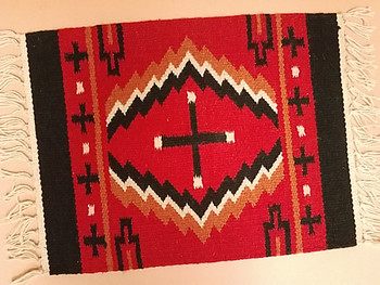 Southwestern Wool Placemat -Navajo Cross