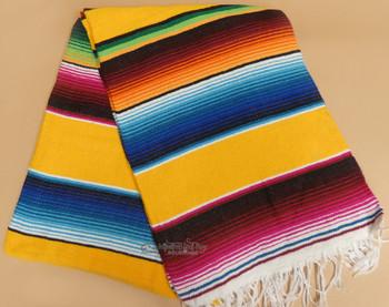 Southwest Mexican Serape Fire Blanket 5'x7' -Yellow