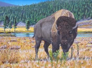 Original western art painting by artist Keith Skaggs