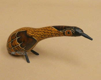Small Hand Etched Andean Gourd Bird
