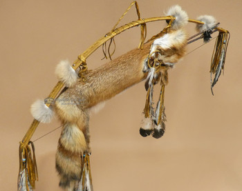 Old Style Navajo Fox Pelt Bow and Quiver Set