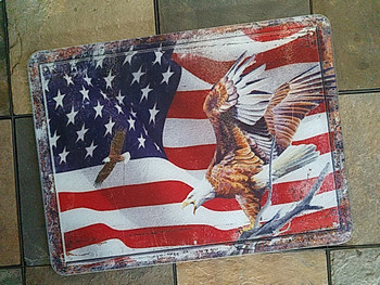 Tempered Glass Cutting Board 16x12 -Flag