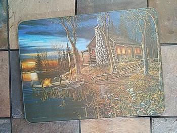 Tempered Glass Cutting Board 16x12 -Cabin