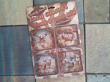Western Metal Coasters Set of 4 -Deer