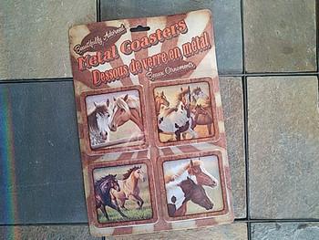 Western Metal Coasters Set of 4 -Horse