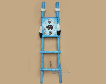 Tarahumaran Hand Painted Dreamcatcher Ladder