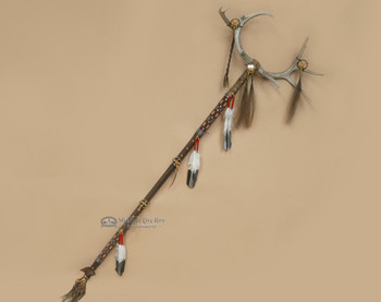 Tigua Indian Medicine Man Antler Staff