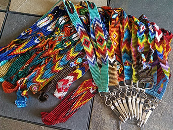Bulk beaded lanyards in assorted colors and designs
