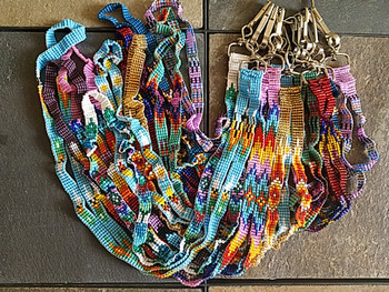 Assorted beaded lanyards in assorted colors and designs