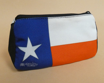 Digital Print Cosmetic Bag -Texas Flag