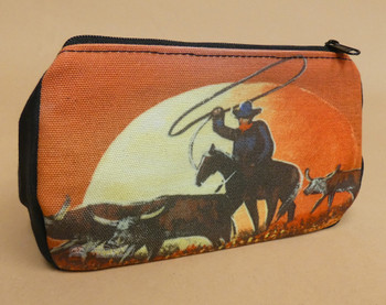 Digital Print Cosmetic Bag -Sunset Wrangler