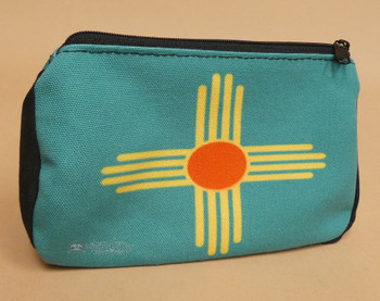 Digital Print Cosmetic Bag  -Zia Pueblo Emblem