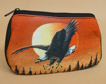 Digital Print Cosmetic Bag -Sunset Eagle