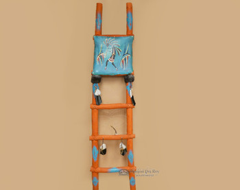 Tarahumara Painted Kiva Ladder -Kokopelli