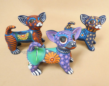 Bulk listing for hand painted clay Chihuahua dogs