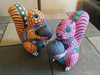 Bulk listing for Day of the Dead Alebrijes Hand Painted Squirrels