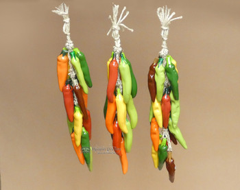 Multi-colored Ceramic Chilli Ristra