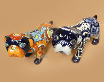 Hand Painted Mexican Talavera Bulldog