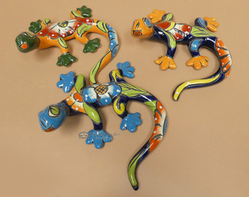 Hand Painted Talavera Lizard