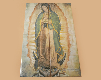 Virgin de Guadalupe 4 Piece Tile Set