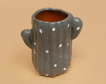 Mexican Talavera Cactus Cup -Grey