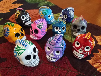 """Assorted Mexican Day of the Dead Skull 2.5"""" -Mohawk"""