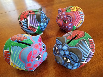 Bulk Mexican Hand Painted Clay Piggy Banks