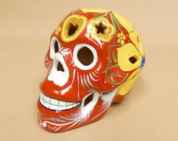 Hand Painted Day of the Dead Luminario -Sugar Skull