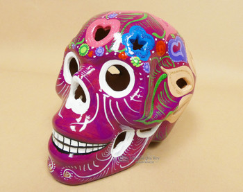 Hand Painted Day of the Dead Sugar Skull Lantern