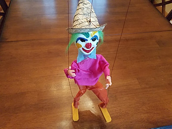 Mexican Marionette Puppet -Clown