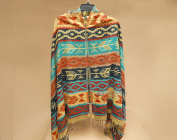 Colorful Southwestern Woven Shawl