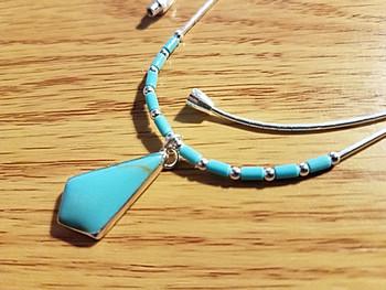 Southwestern Silver Pendant Necklace