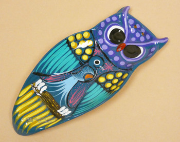 Hand Painted Ceramic Owl Spoon Rest